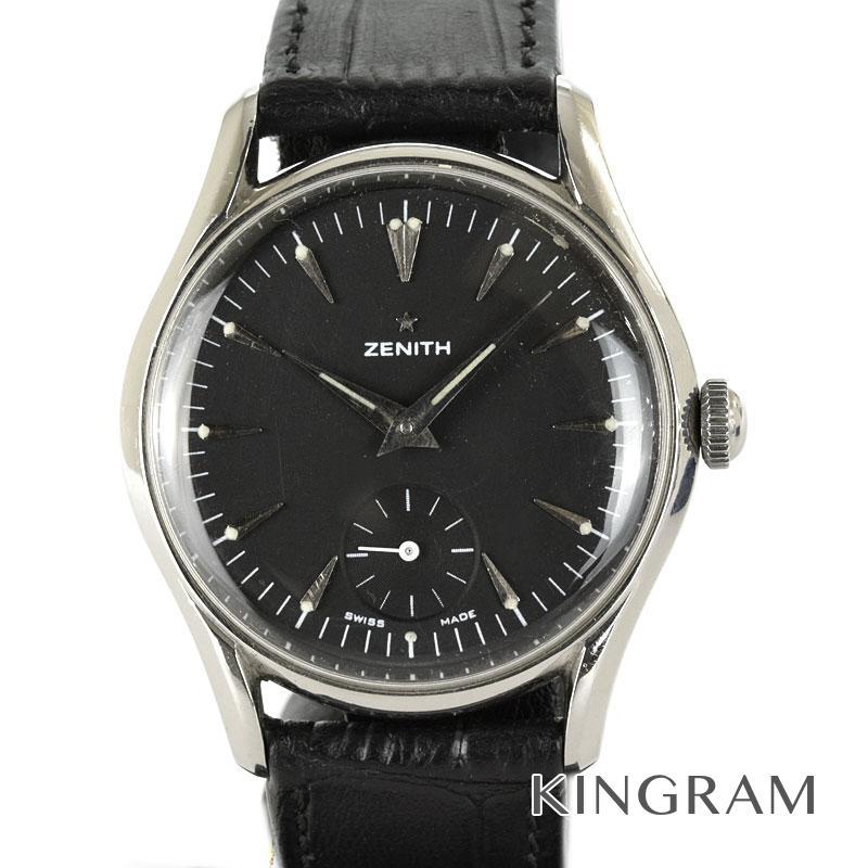 ゼニス ZENITH アンティーク スモールセコンド OH済 社外製ベルト 手巻 メンズ 腕時計 yec【中古】