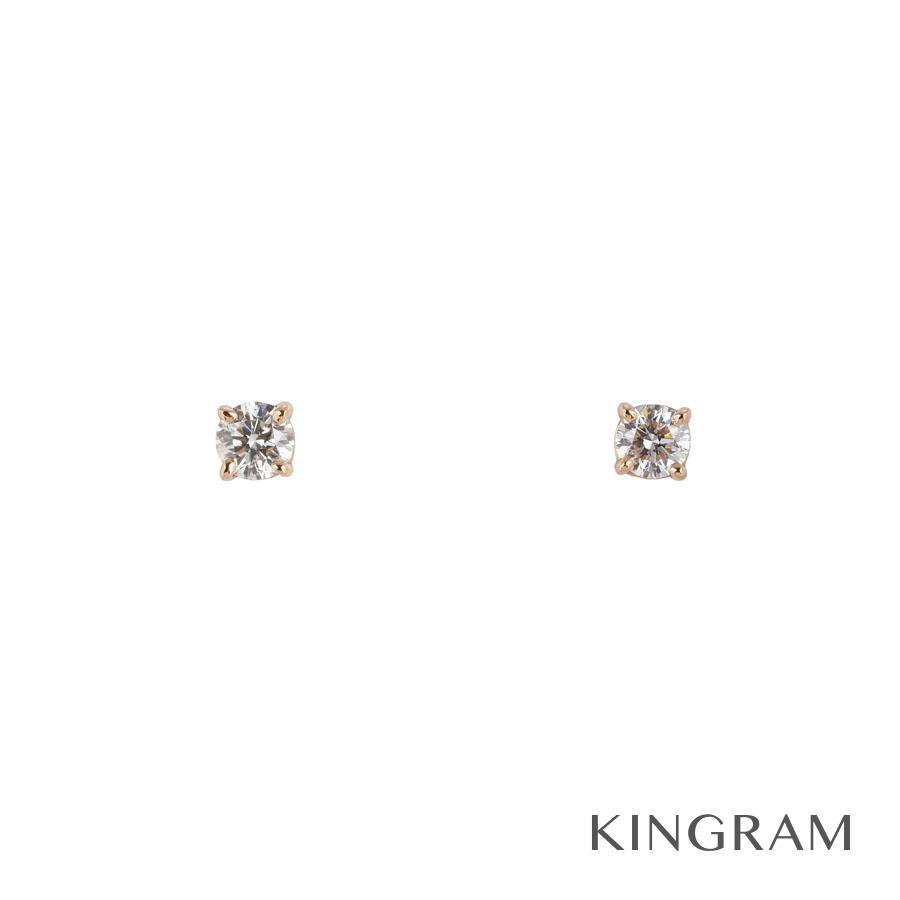 ティファニー TIFFANY&Co. ピアス K18PG 750 ダイヤモンド ソリティア te【中古】