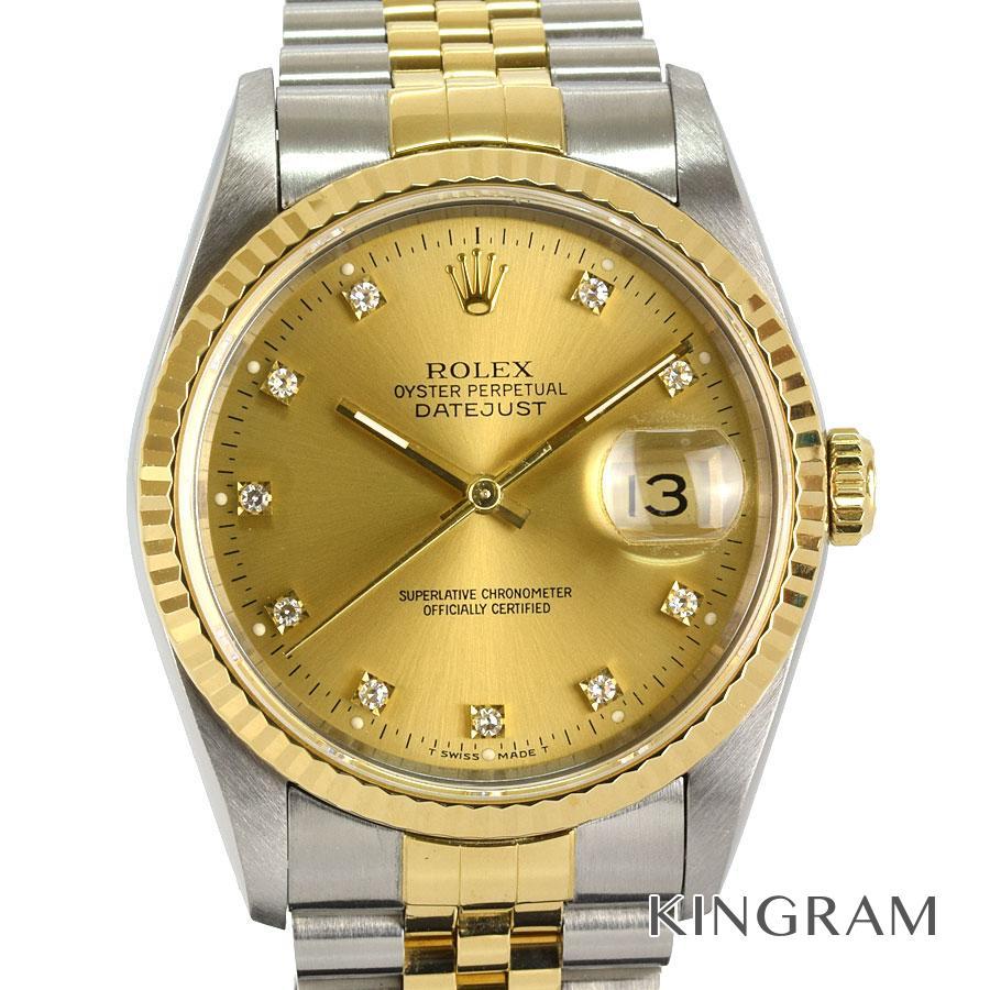ロレックス ROLEX デイトジャスト 16233G S番 OH済 外装仕上げ済 自動巻 メンズ 腕時計 rkd【中古】