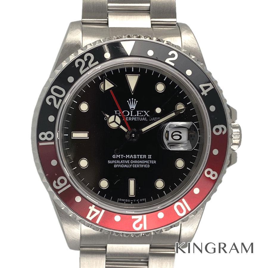 ロレックス ROLEX GMTマスター2 16710 W番 OH済 外装仕上げ済 自動巻 メンズ 腕時計 te【中古】