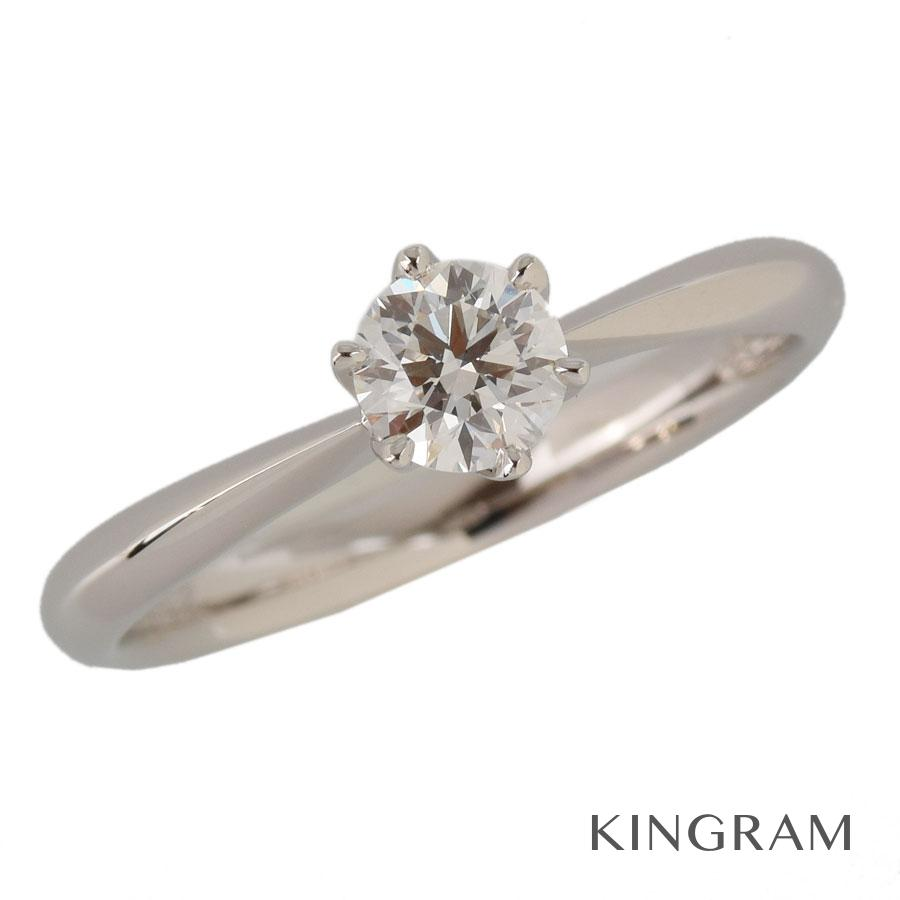 ラザールダイヤモンド LAZARE DIAMOND リング Pt950 ダイヤモンド 0.32ct 8号(48) クリーニング済 iz【中古】