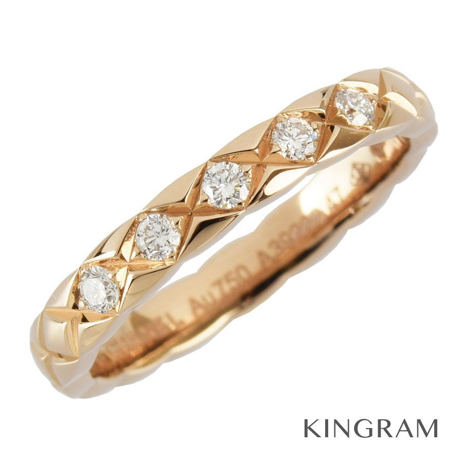 シャネル CHANEL リング K18PG 750 ダイヤモンド ココクラッシュコレクション マリッジリング 7号(47)クリーニング済 ku【中古】