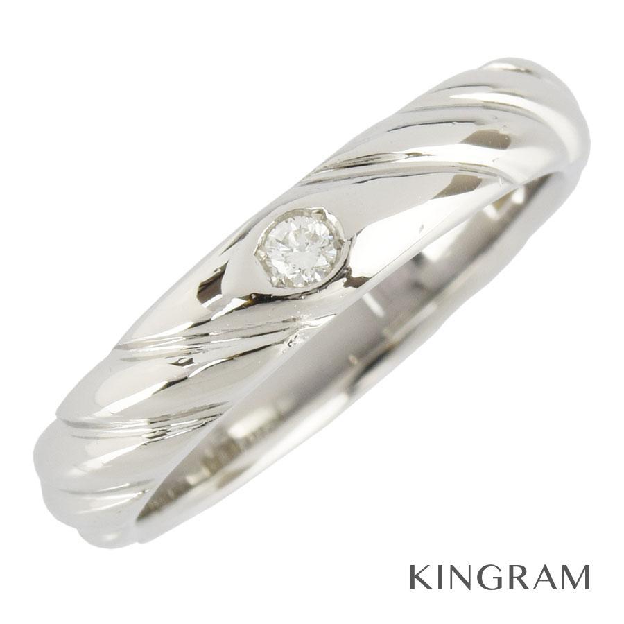 ニナリッチ NINA RICCI リング Pt900 ダイヤモンド 1P 6.5号(46)クリーニング済 ku【中古】