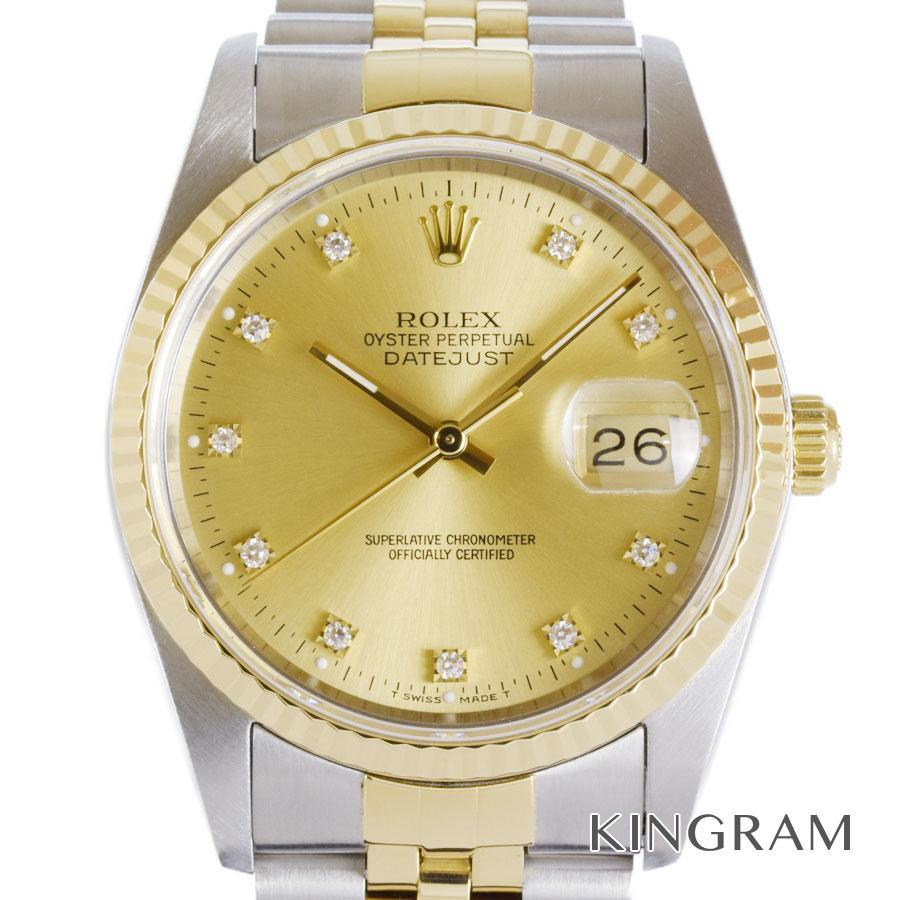 ロレックス ROLEX デイトジャスト 16233G L番 OH済 外装仕上げ済 自動巻 メンズ 腕時計 mo【中古】
