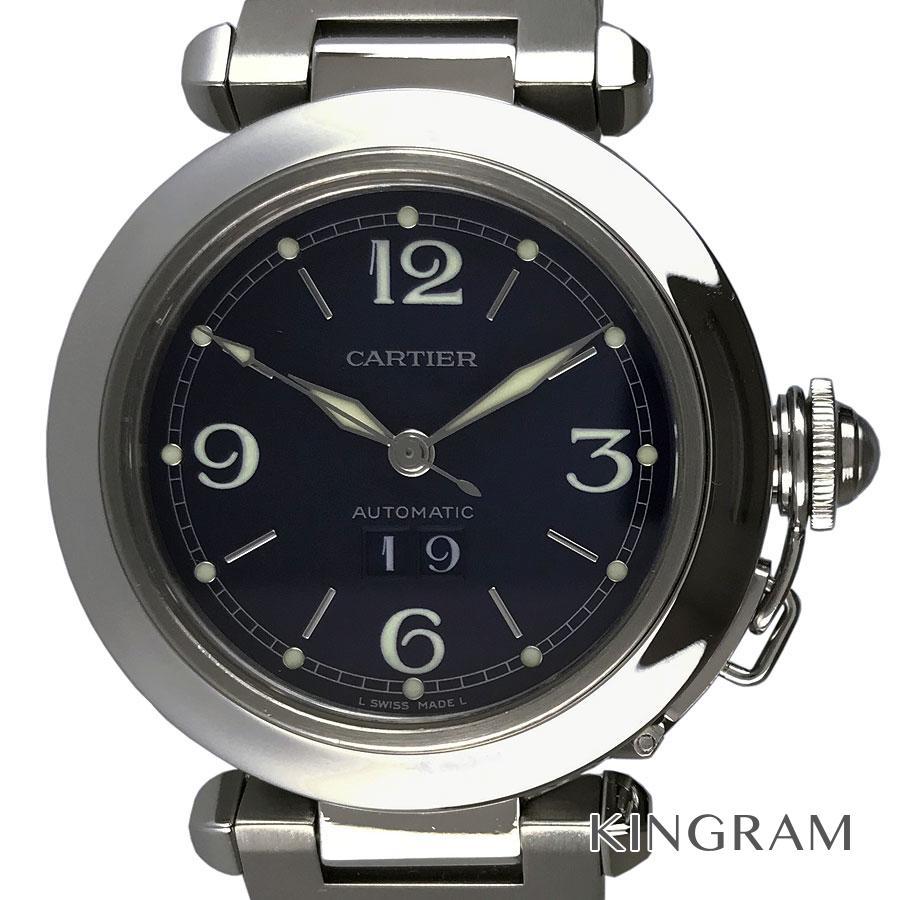 カルティエ CARTIER パシャC ビックデイト W31047M7 OH済 自動巻 メンズ 腕時計 ec【中古】
