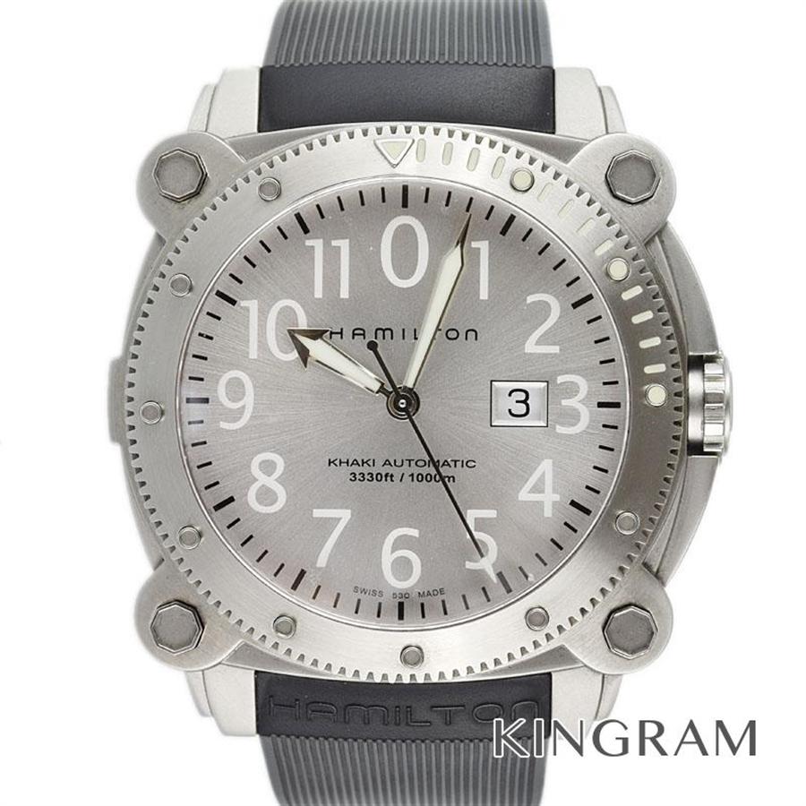 ハミルトン HAMILTON H785150 カーキ ビロウゼロ 替えバンド付き 自動巻 メンズ 腕時計 yec【中古】