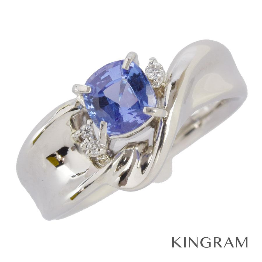ノーブランド Generic items リング Pt900 タンザナイト ダイヤモンド 16.5号(56)クリーニング済 ku【中古】