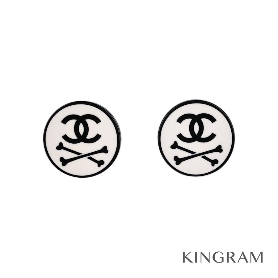 シャネル CHANEL イヤリング メタル プラスチック スカルモチーフ 03P ju【中古】