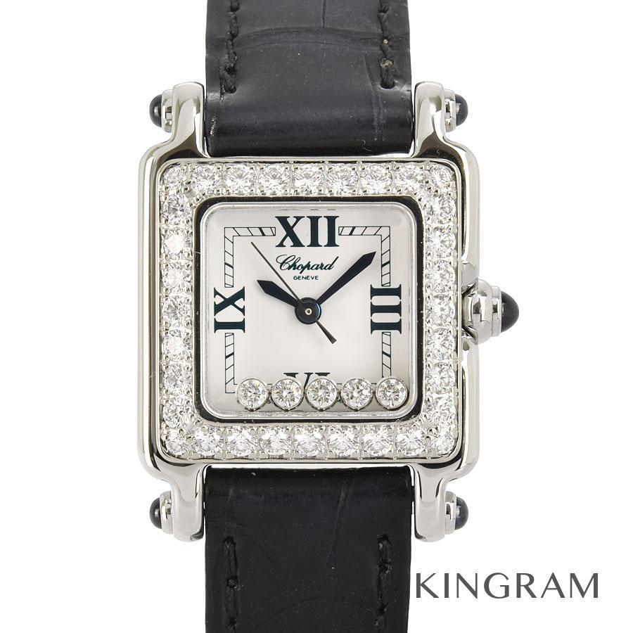 ショパール Chopard ハッピースポーツ  27/8894-23 ダイヤモンドベゼル 外装仕上げ済 電池交換済 クォーツ レディース 腕時計 te【中古】