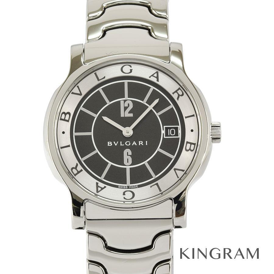 ブルガリ BVLGARI ソロテンポ ST35S 外装仕上げ済 電池交換済 クォーツ メンズ 腕時計 rne【中古】