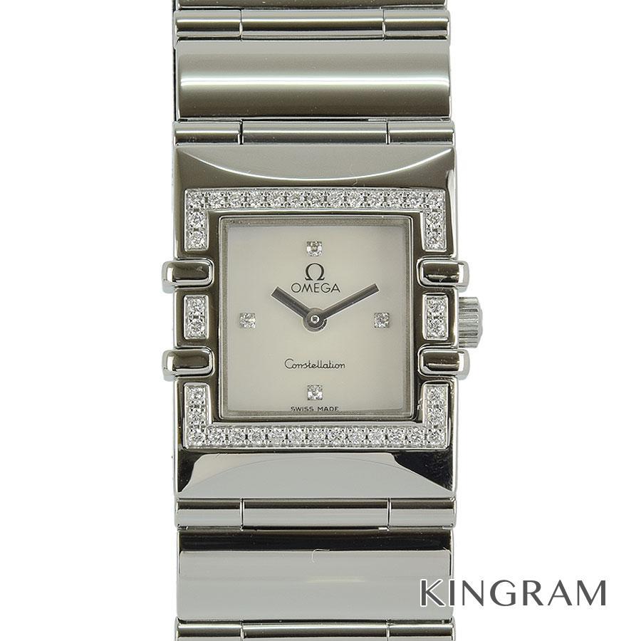 オメガ OMEGA コンステレーション 1528.46 ダイヤベゼル 電池交換済 クォーツ レディース 腕時計 kkd【中古】