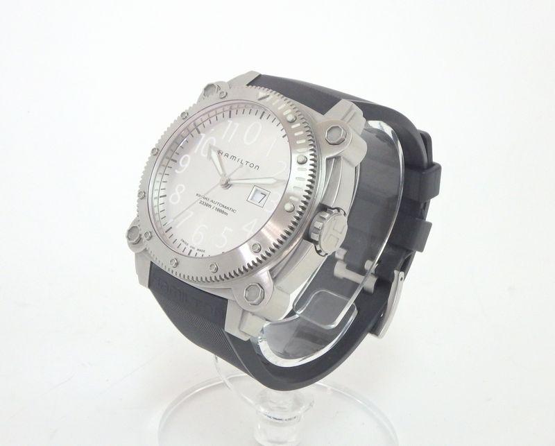 ハミルトン HAMILTON カーキ ビロウゼロ BeLOWZERO H785150 ダイバー 自動巻き 替えベルト付き メンズ腕時計 iz[中古]