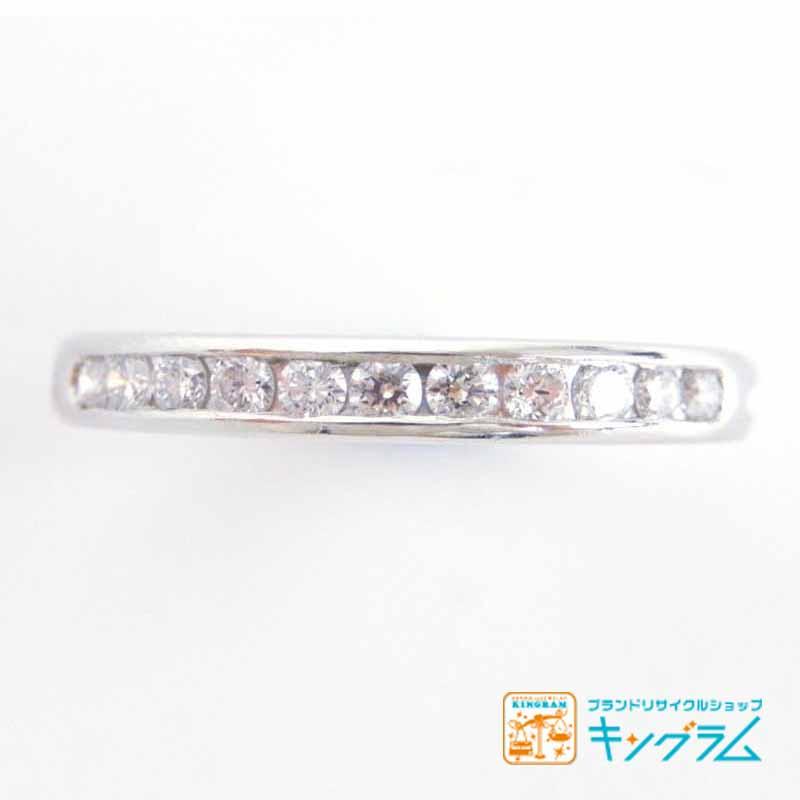 ティファニー TIFFANIY&CO PT950 ダイヤモンド11Pハーフエタニティリング #9 9号 指輪 プラチナ om 【中古】