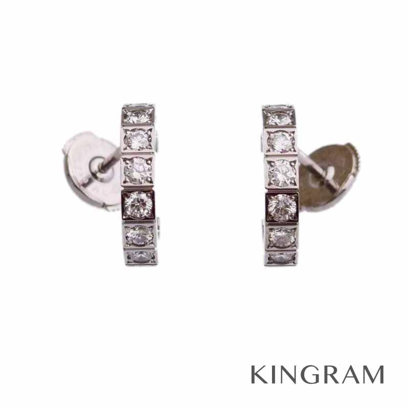 カルティエ Cartier K18WG ラニエール ピアス フルダイヤ 750 ホワイトゴールド mi 【中古】