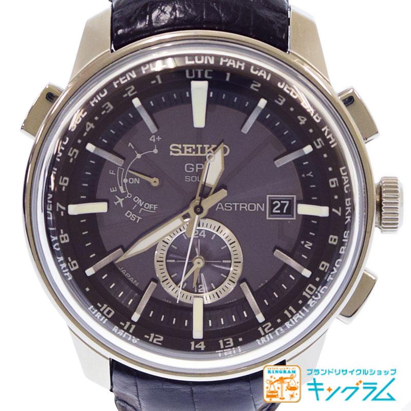 セイコー SEIKO アストロン GPSソーラー 7X52-0AK0 革ベルト メンズ ソーラー 腕時計 ny 【中古】
