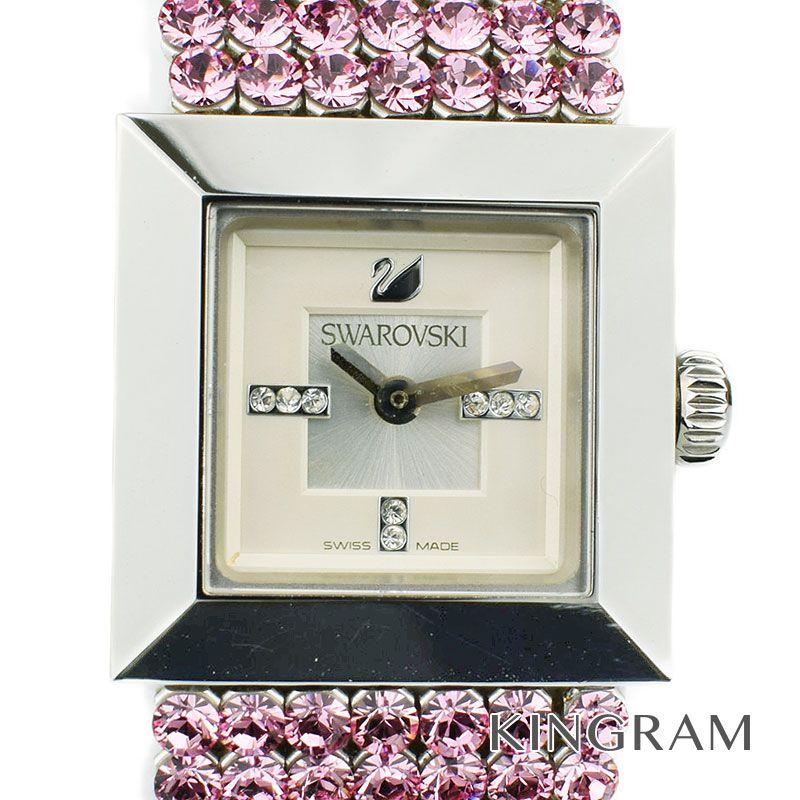 スワロフスキー Swarovski Ref.1000675 ELIS エリス ブレスウォッチ クォーツ レディース 腕時計 te 【中古】