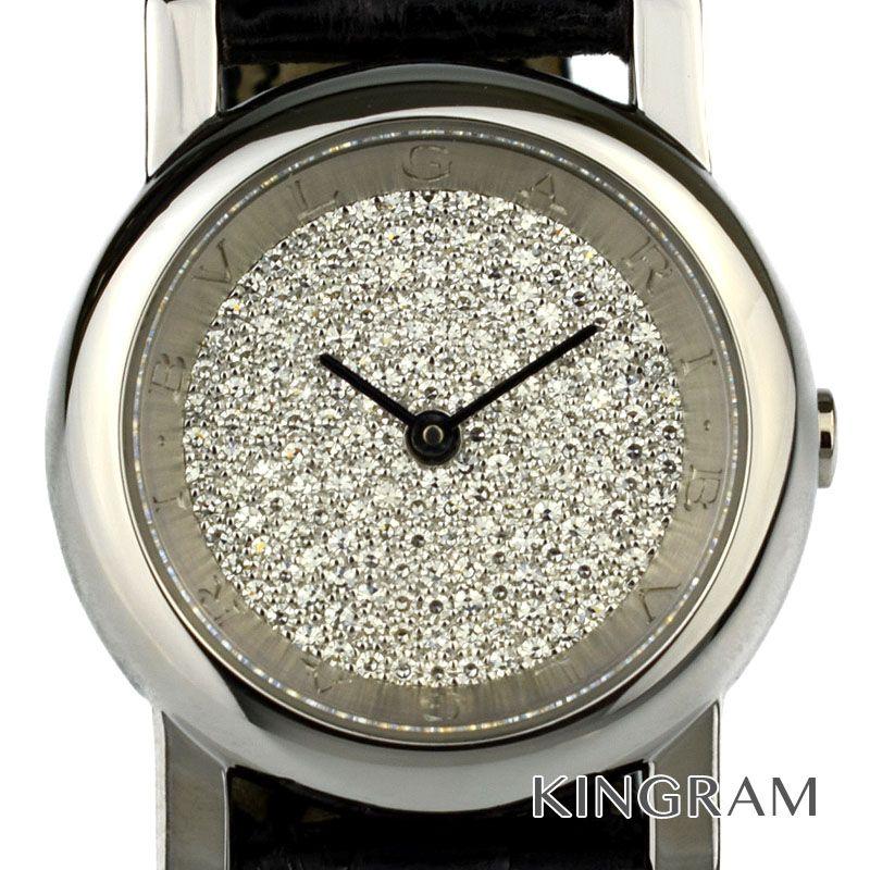 ブルガリ BVLGARI アンフィティアトロ Ref.PT26DPL クォーツ PT950 ダイヤ文字盤 新品仕上済 レディース 腕時計 ka 【中古】