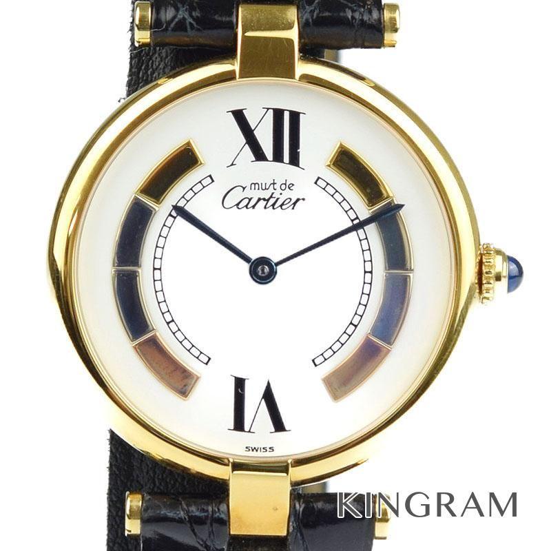 カルティエ Cartier ヴェルメイユ Ref.590003 ヴァンドーム クォーツ メンズ 腕時計 ka 【中古】