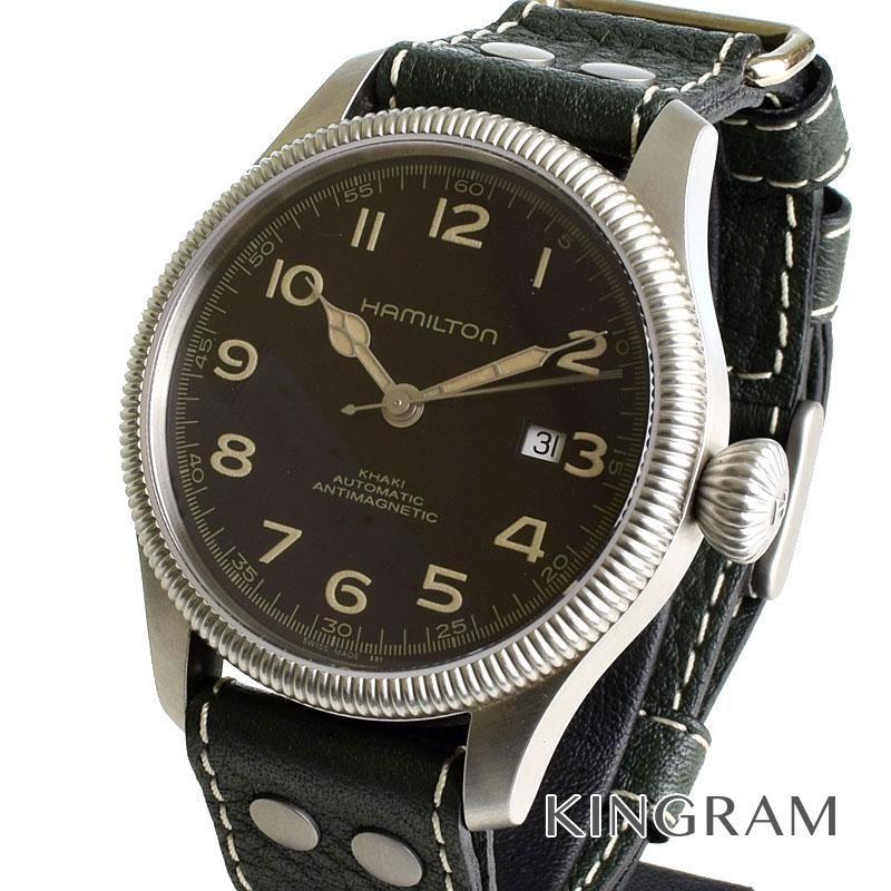 ハミルトン HAMILTON Ref.H60455833 カーキ チームアース ハリソンフォード 自動巻 メンズ 腕時計 as 【中古】