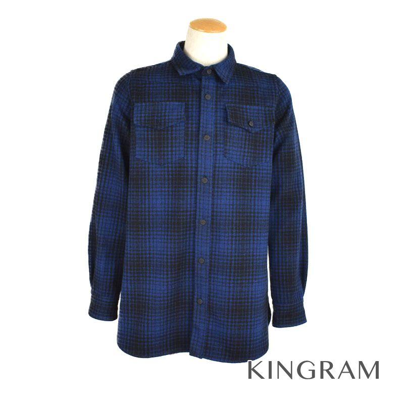 オフホワイト OFFWHITE チェックシャツ ブルー×ブラック×ホワイト コットン メンズトップス rsa 【中古】