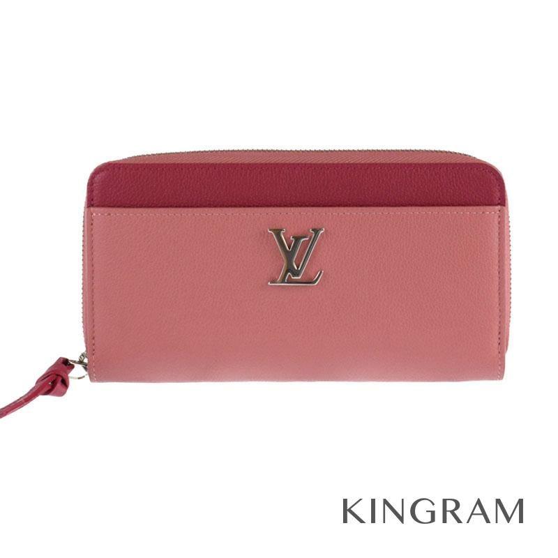 ルイ・ヴィトン LOUIS VUITTON ジッピーロックミー ラウンドファスナー M62949 ローズブドワール×リドゥヴァン (ピンク) カーフ レディース財布 ko 【中古】
