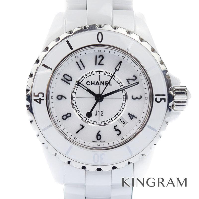 シャネル CHANEL J12 Ref.H0968 ホワイト 電池交換済 クォーツ レディース 腕時計 te 【中古】