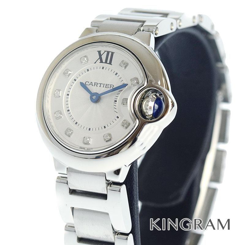 カルティエ Cartier Ref.WE902073 バロンブルーSM 11Pダイヤ クォーツ レディース 腕時計 ki 【中古】