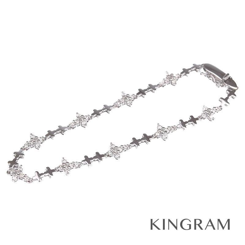 ノーブランド Generic items ブレスレット K18WG ダイヤモンド クロスモチーフ te 【中古】