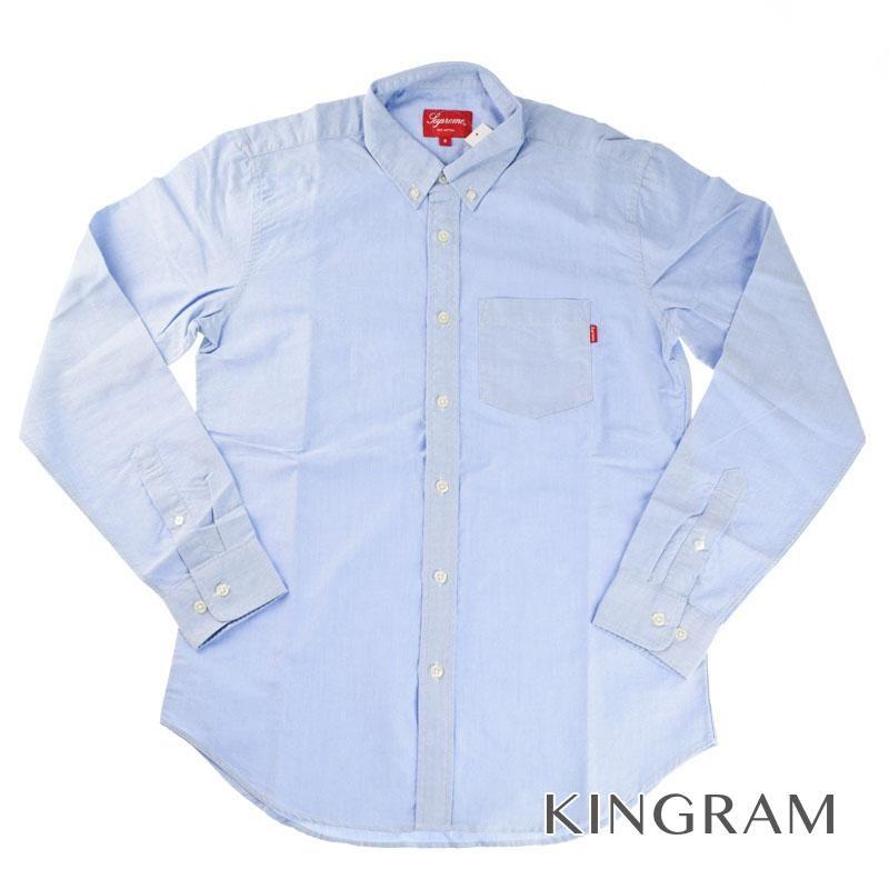 シュプリーム Supreme 長袖シャツ 半タグ付 未使用品 ポルトガル製 ライトブルー 綿100% メンズ シャツ rtk 【中古】