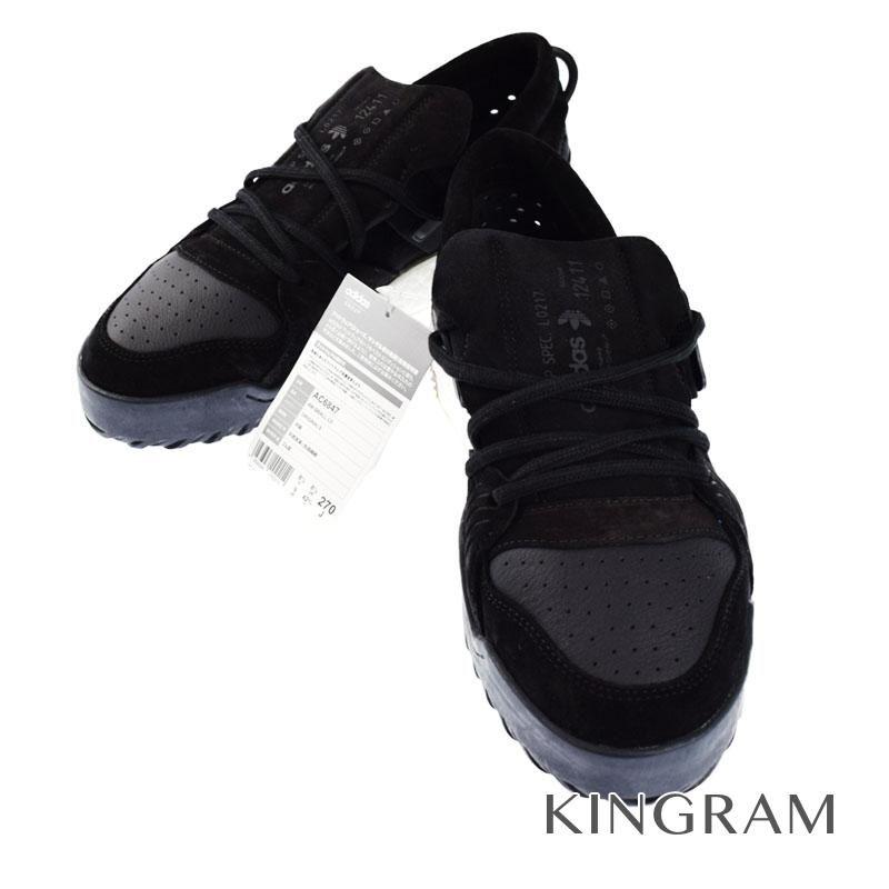 アディダス adidas ×アレキサンダーワン 未使用タグ付 27.0cm MADE IN CHINA AC6847 コアブラック 天然皮革×合成繊維 ゴム底 メンズ スニーカー rtk 【中古】
