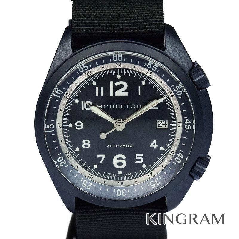 ハミルトン HAMILTON カーキアビエーション Ref.H80495845 パイロット パイオニア メンズ 腕時計 omju 【中古】