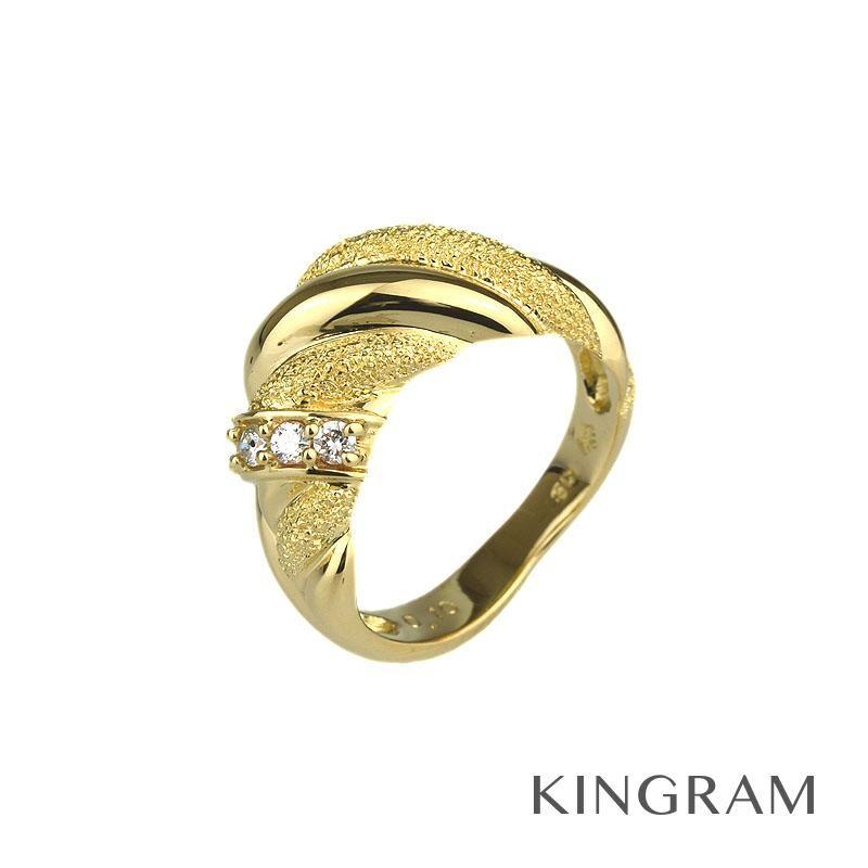 キミジマ KIMIJIMA リング K18 ダイヤモンド 7号 クリーニング済 te 【中古】