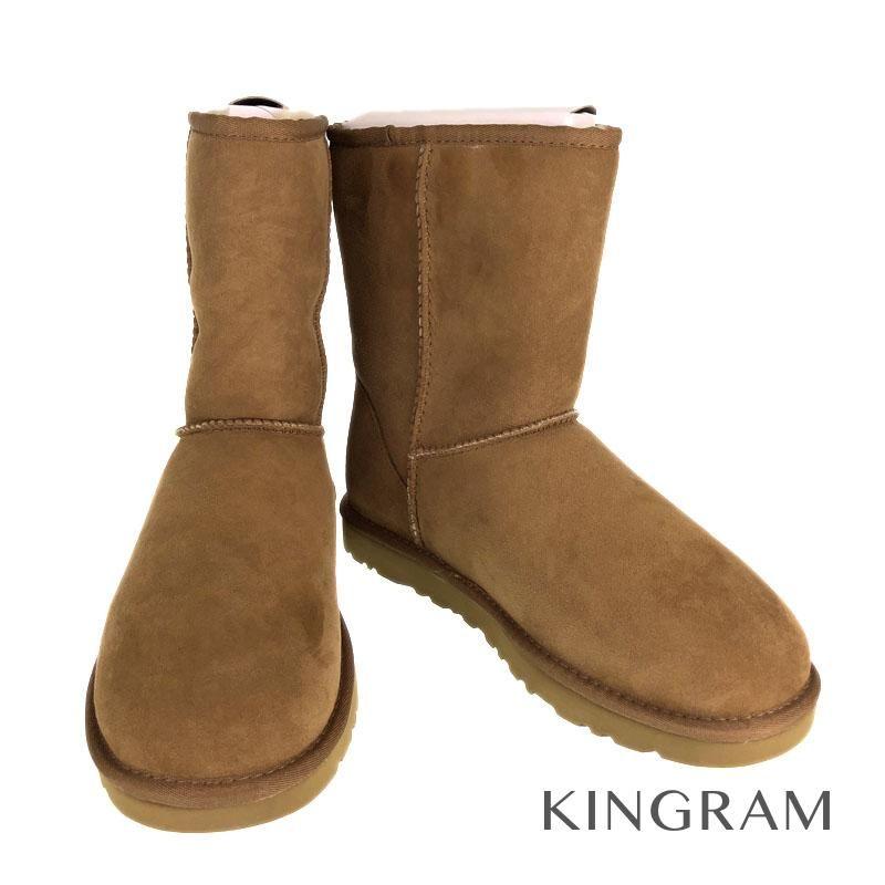 アグ UGG M CLASSIC SHORT ムートン ブーツ 5800 チェスナット 甲革:天然皮革( スエード )/内側:シープスキン( 羊毛 )/靴底:EVA(合成樹脂) メンズ ブーツ se 【中古】