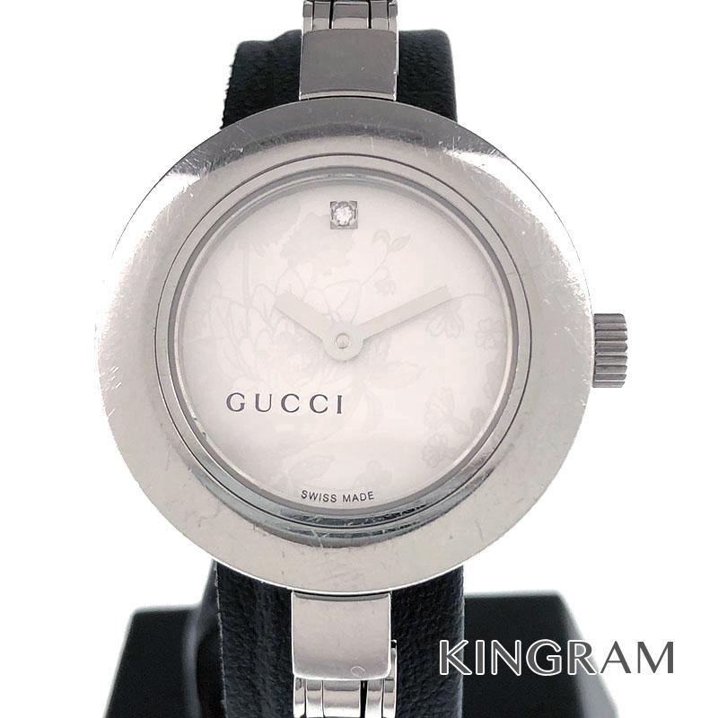 グッチ GUCCI Ref.105 1Pダイヤ クォーツ レディース 腕時計 kw 【中古】