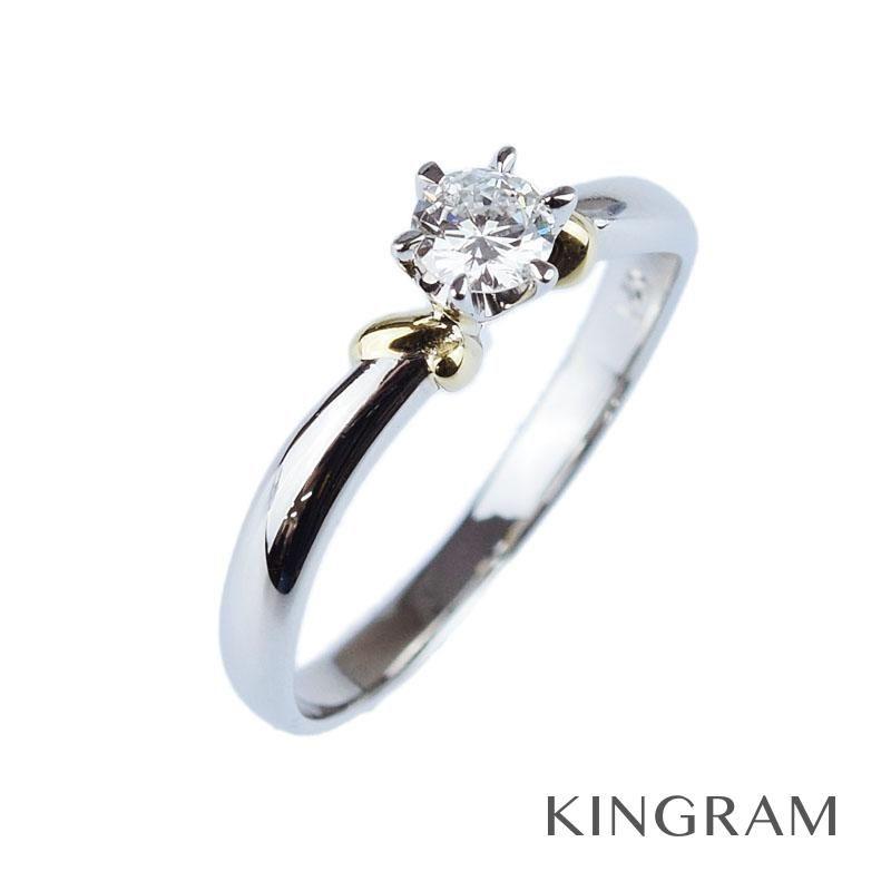 ノーブランド Generic items リング Pt850 K18 ダイヤモンド 11号 クリーニング済 rne 【中古】