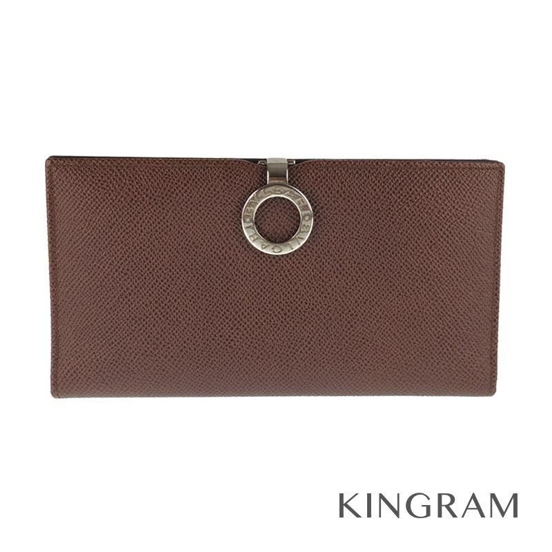 ブルガリ BVLGARI カードケース/お札入れ ブラウン レザー メンズ財布 rkd 【中古】