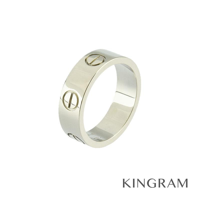 カルティエ Cartier ラブリング リング K18WG 750 ♯51 10.5号 クリーニング済 ec 【中古】