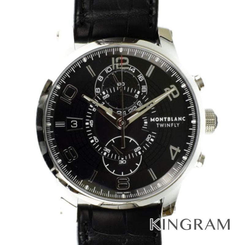 モンブラン MONTBLANC タイムウォーカー Ref.105077 クロノグラフ ツインフライ 自動巻 メンズ 腕時計 ec 【中古】