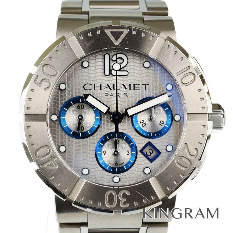 ショーメ CHAUMET クラスワン Ref.W17690-45A クロノグラフ 自動巻 メンズ 腕時計 ec 【中古】