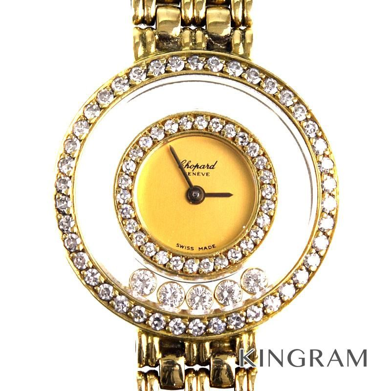 ショパール CHOPARD ハッピーダイヤモンド 5Pムービングダイヤモンド クォーツ レディース 腕時計 jute 【中古】