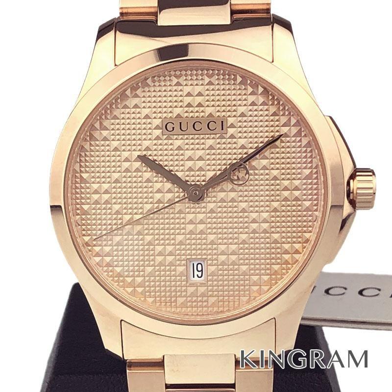 グッチ GUCCI 126.4 Gタイムレス Ref.YA126482 アウトレット クォーツ メンズ 腕時計 ec 【中古】