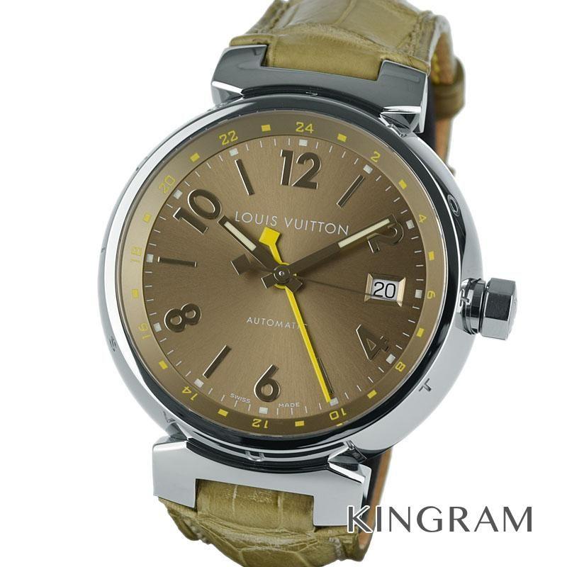 ルイ・ヴィトン LOUIS VUITTON タンブール Ref.Q1132 GMT OH済 自動巻 メンズ 腕時計 gi 【中古】