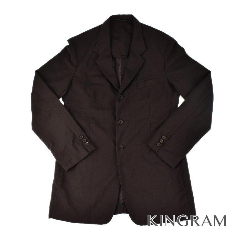 ヨウジヤマモト Yohji Yamamoto POUR HOOME 3Bジャケット HX-J66-116 (素材)モヘア53% 毛47% メンズトップス rkd 【中古】