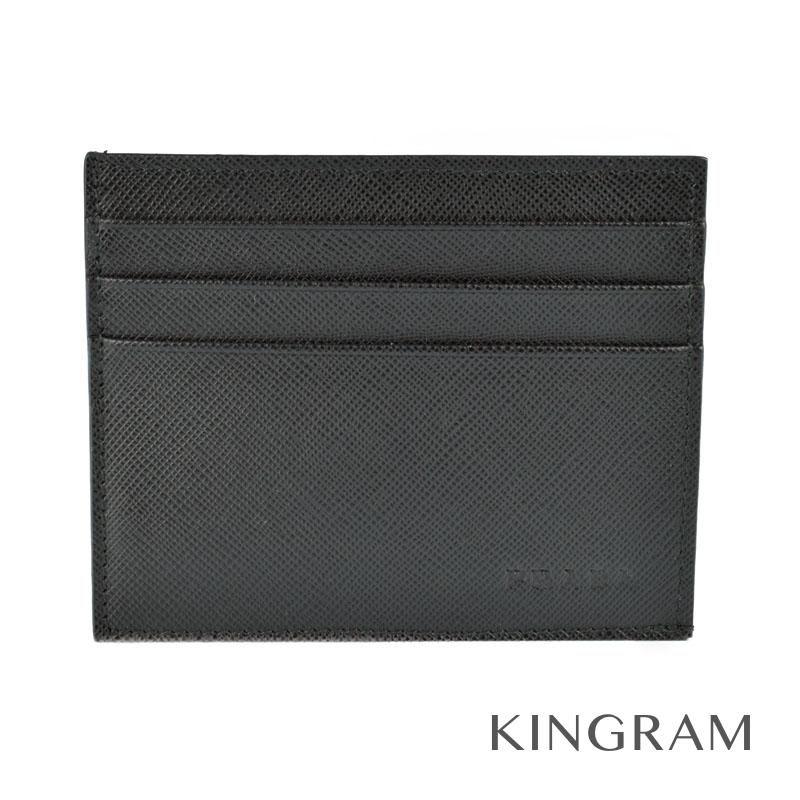 プラダ PRADA カードケース 2M1223 ブラック サフィアーノ クレジットカードケース rkd 【中古】