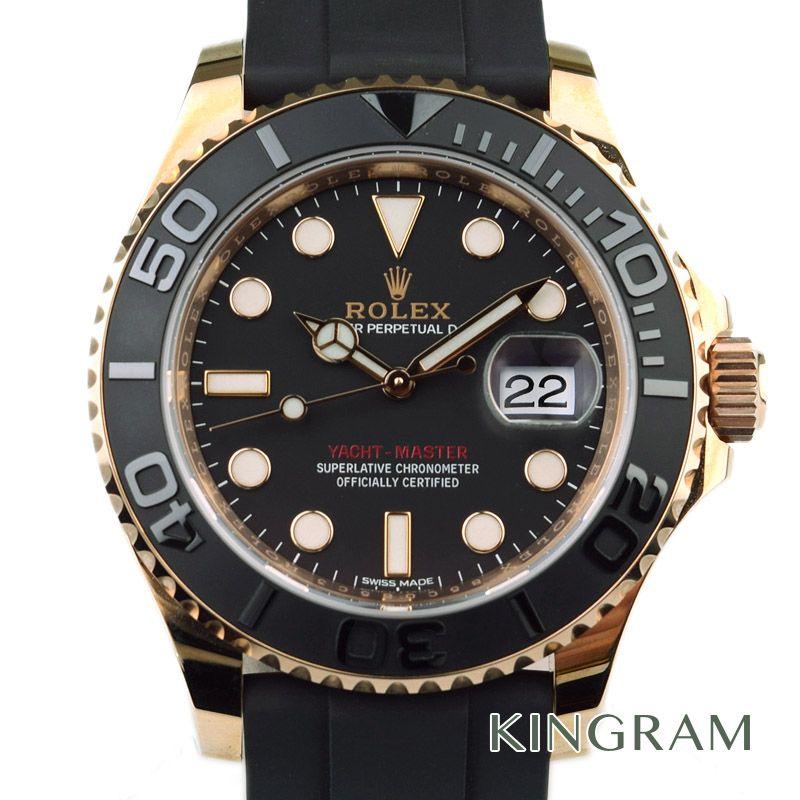 ロレックス ROLEX ヨットマスター Ref.116655 自動巻 K18 エバーロースゴールド ラバーベルト メンズ 腕時計 yec 【中古】