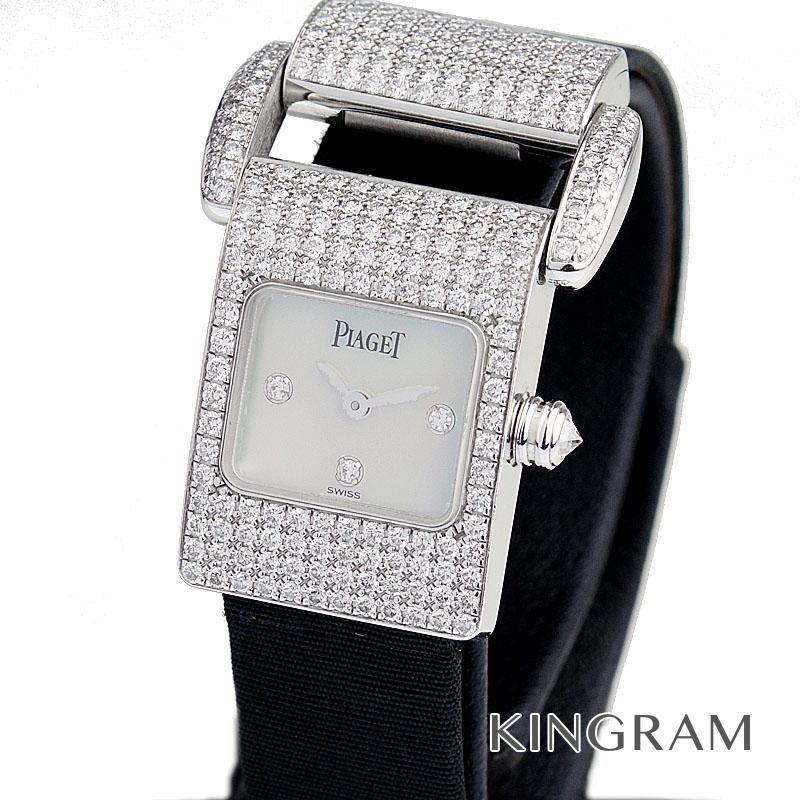 ピアジェ PIAGET Ref.5225 ミスプロトコール ダイヤモンド クォーツ レディース 腕時計 te 【中古】