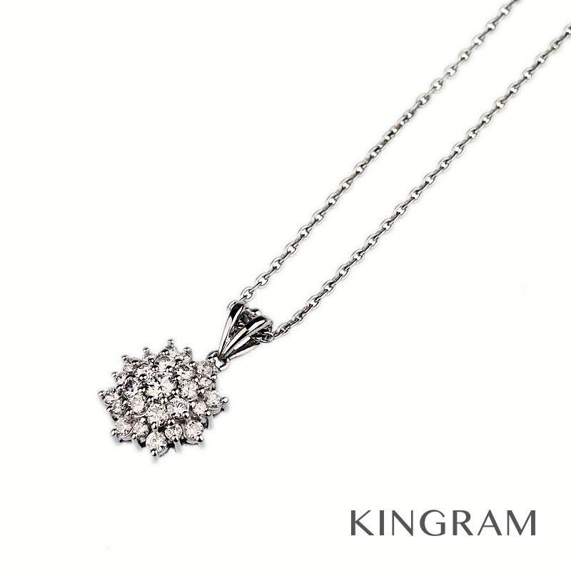 ノーブランド Generic items ネックレス Pt900 Pt850 ダイヤモンド0.61ct クリーニング済 hi 【中古】