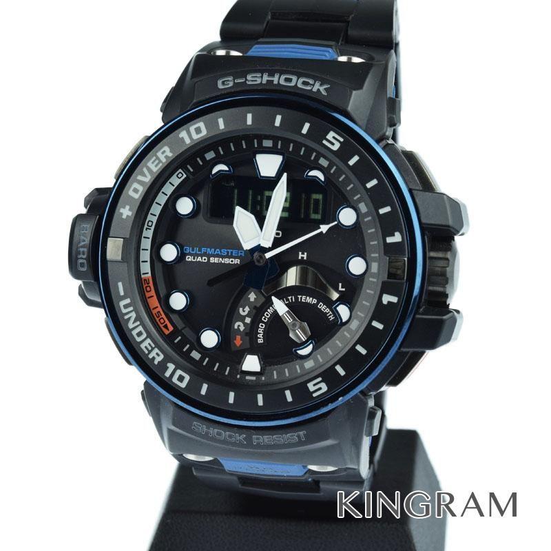カシオ CASIO G-SHOCK Ref.GWN-Q1000MC-1A2JF マスターオブG ソーラークォーツ メンズ 腕時計 rhr 【中古】