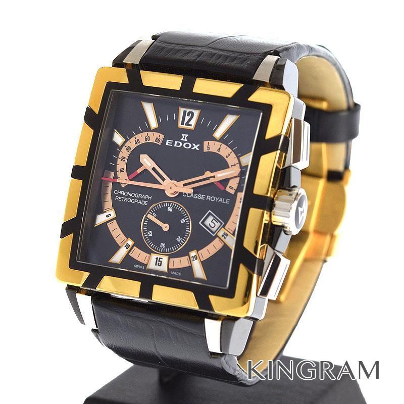 エドックス EDOX Ref.01504357RNNIR アウトレット クラス ロイヤル クロノグラフ クォーツ メンズ 腕時計 ec 【中古】