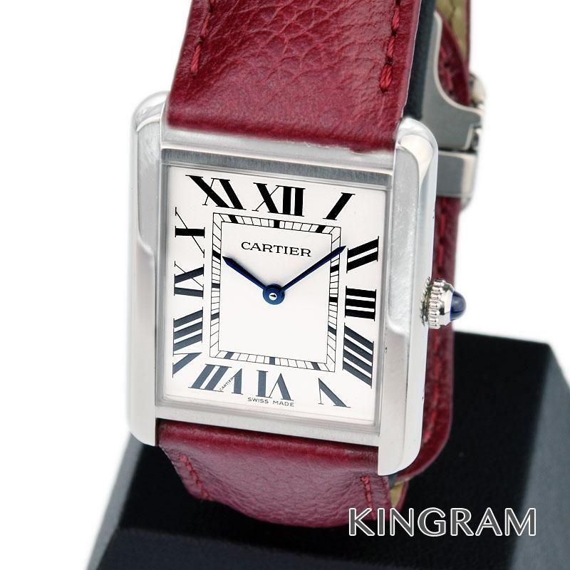 カルティエ Cartier タンクソロ Ref.3169 LM 替えベルト付き クォーツ メンズ 腕時計 se 【中古】